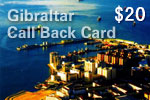Gibraltar Call Back Card