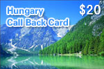Hungary Call Back Card