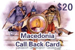 Macedonia Call Back Card