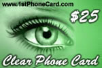 Clear Phone Card